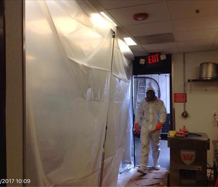 Setting Up Containment at Commercial Mold Job